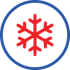 Snowflake icon representing air conditioning services through Brower Mechanical in Rocklin, CA