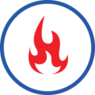 Flame icon representing heating services with Brower Mechanical in Rocklin, CA