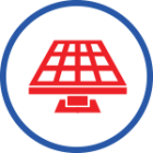 Solar panel icon representing solar services provided in the Rocklin, CA area by Brower Mechanical