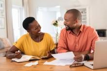 couple paying utility bill