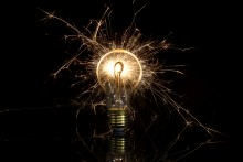 sparking electricity from a lightbulb