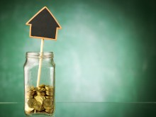 home savings in jar of gold