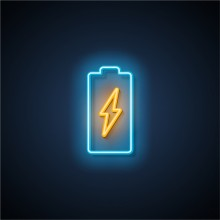 neon battery graphic