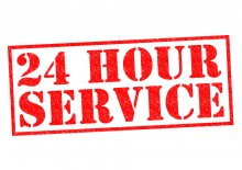 24 hour service graphic
