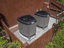 central air conditioning units outside home