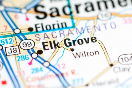 elk grove city california map