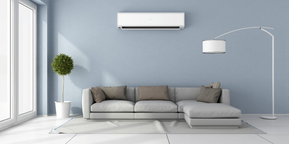 interior heat pump full living room view