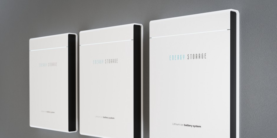 solar battery storage mounted on wall