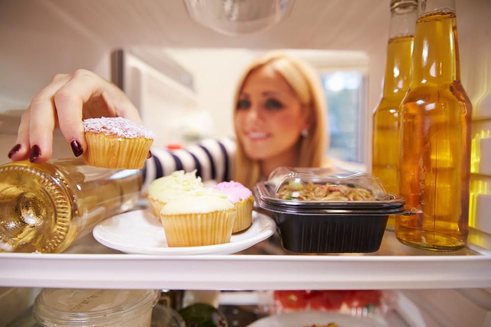 woman in fridge