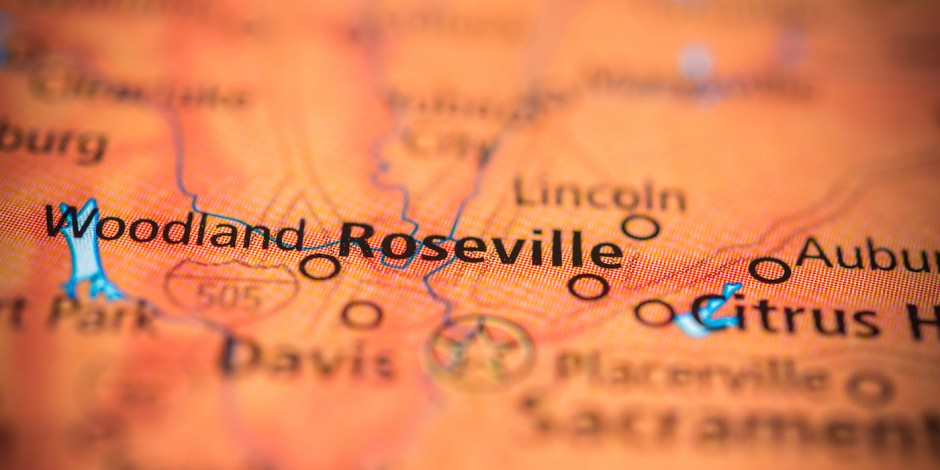 roseville california map