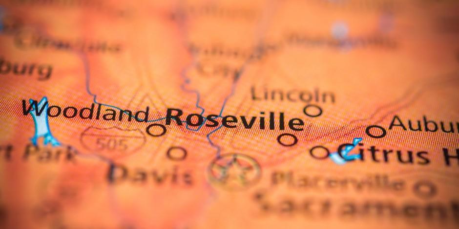 roseville california map