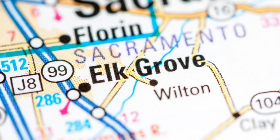 elk grove city california map